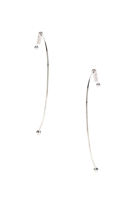 Image 3 of Y/Project Semi Hoop Earring in Silver