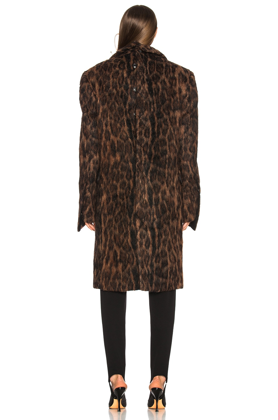 Image 4 of Y/Project Leopard Coat in Brown