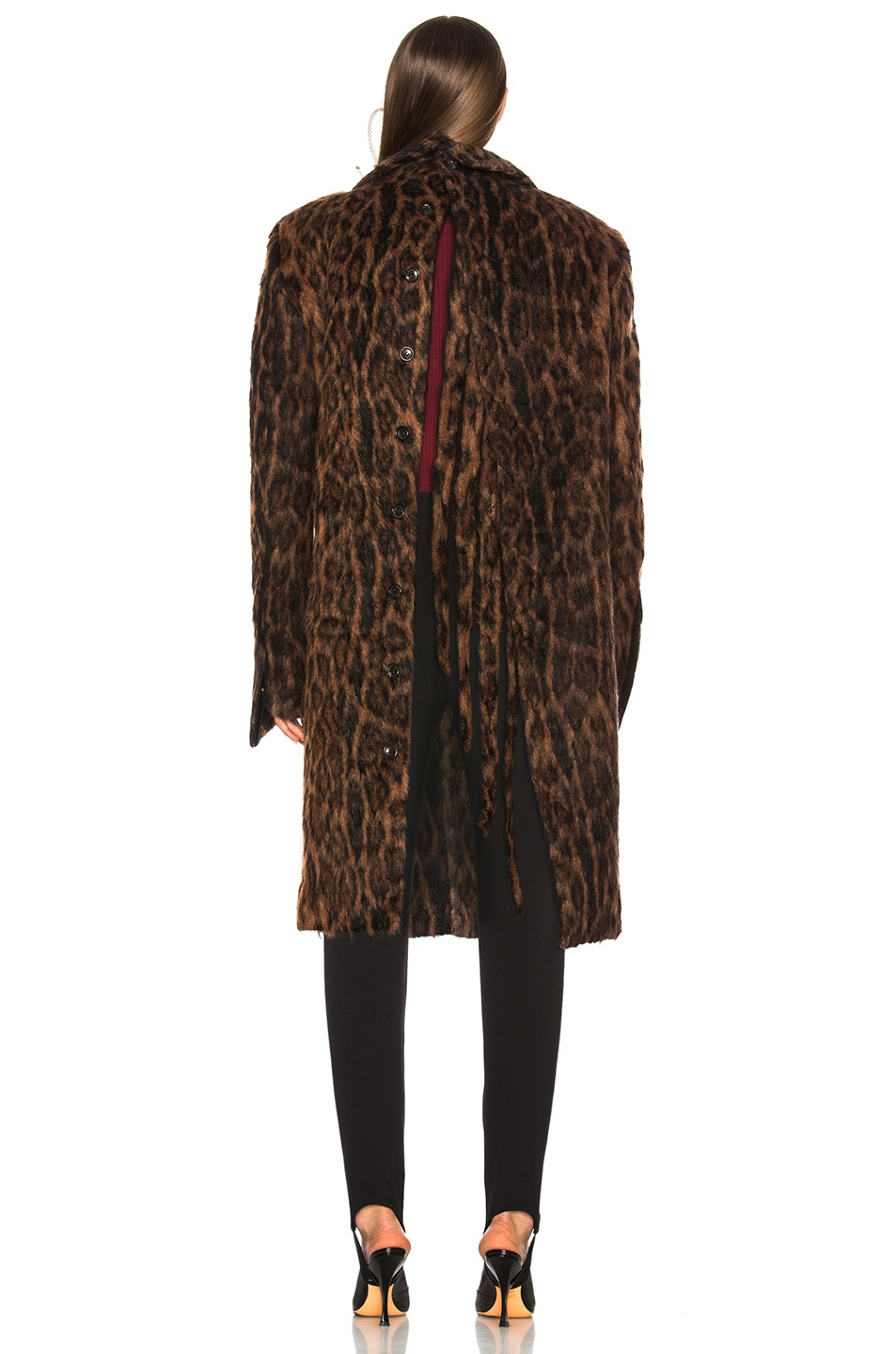 Image 5 of Y/Project Leopard Coat in Brown