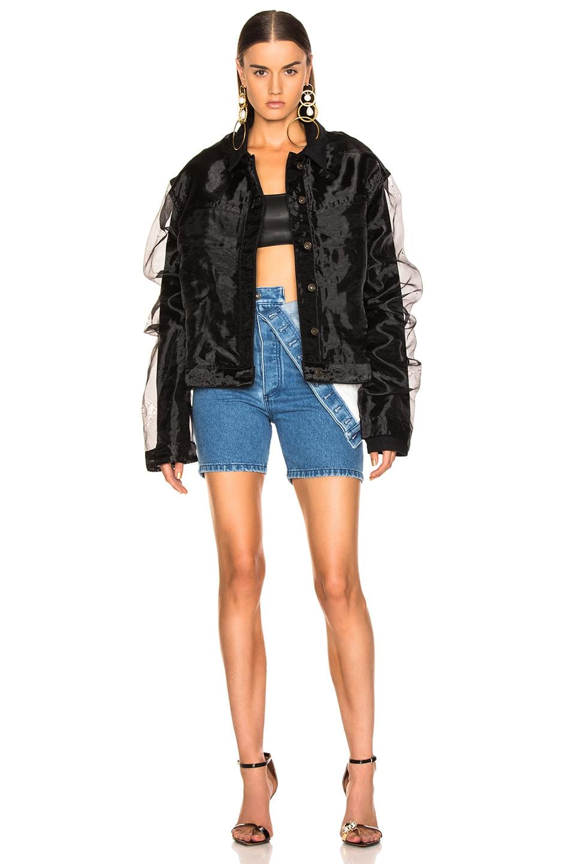 Image 1 of Y/Project Organza Jacket in Black