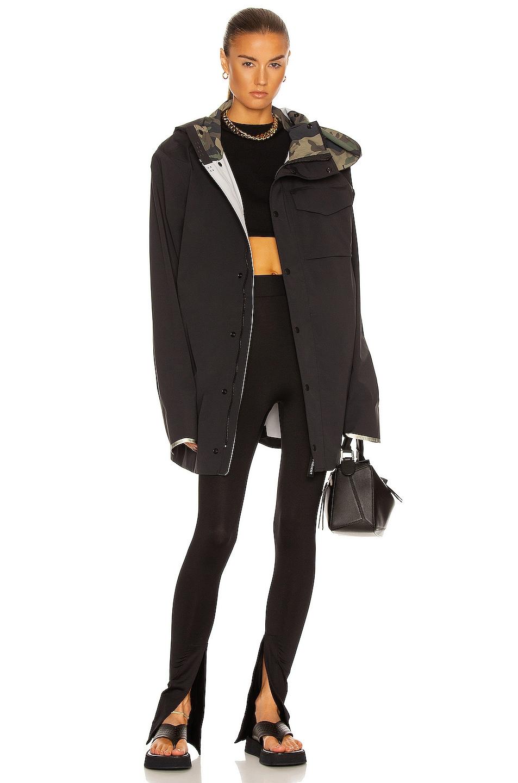 Image 1 of Y/Project x Canada Goose Nanaimo Rain Jacket in Black & CG Camo