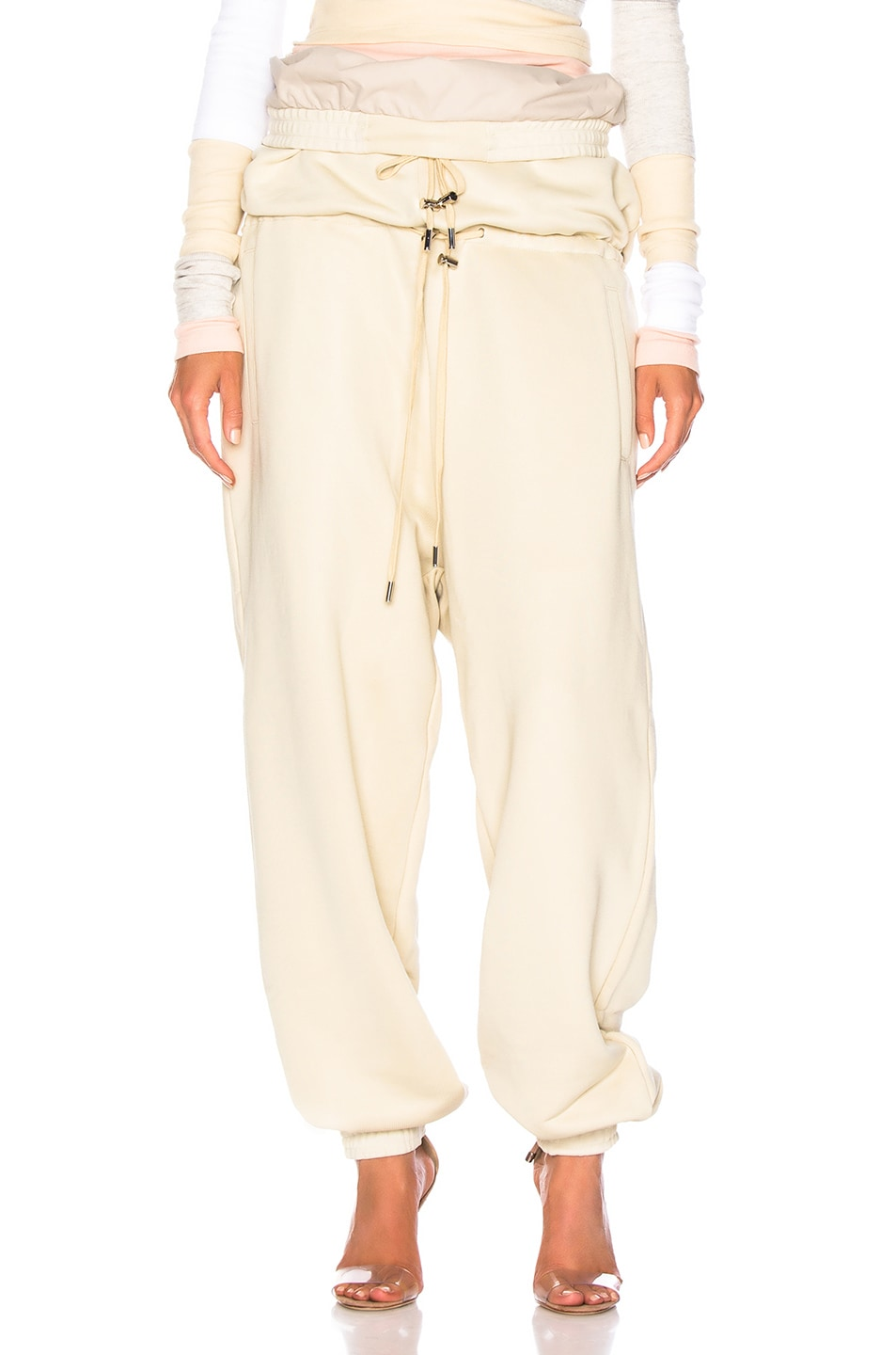 Image 1 of Y/Project Double Waist Track Pant in Biscotti