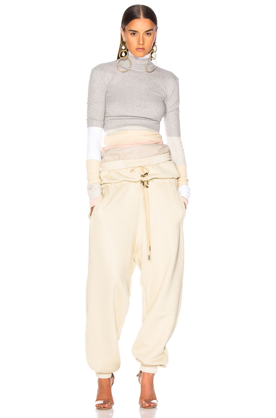 Image 4 of Y/Project Double Waist Track Pant in Biscotti