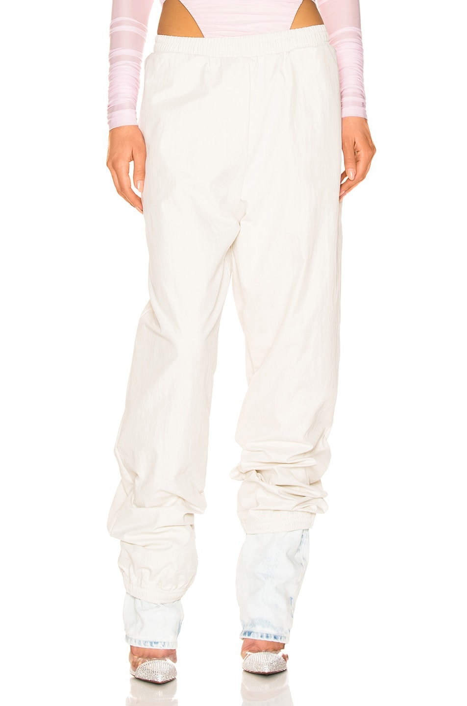 Image 1 of Y/Project Denim Cuff Track Pants in Ivory