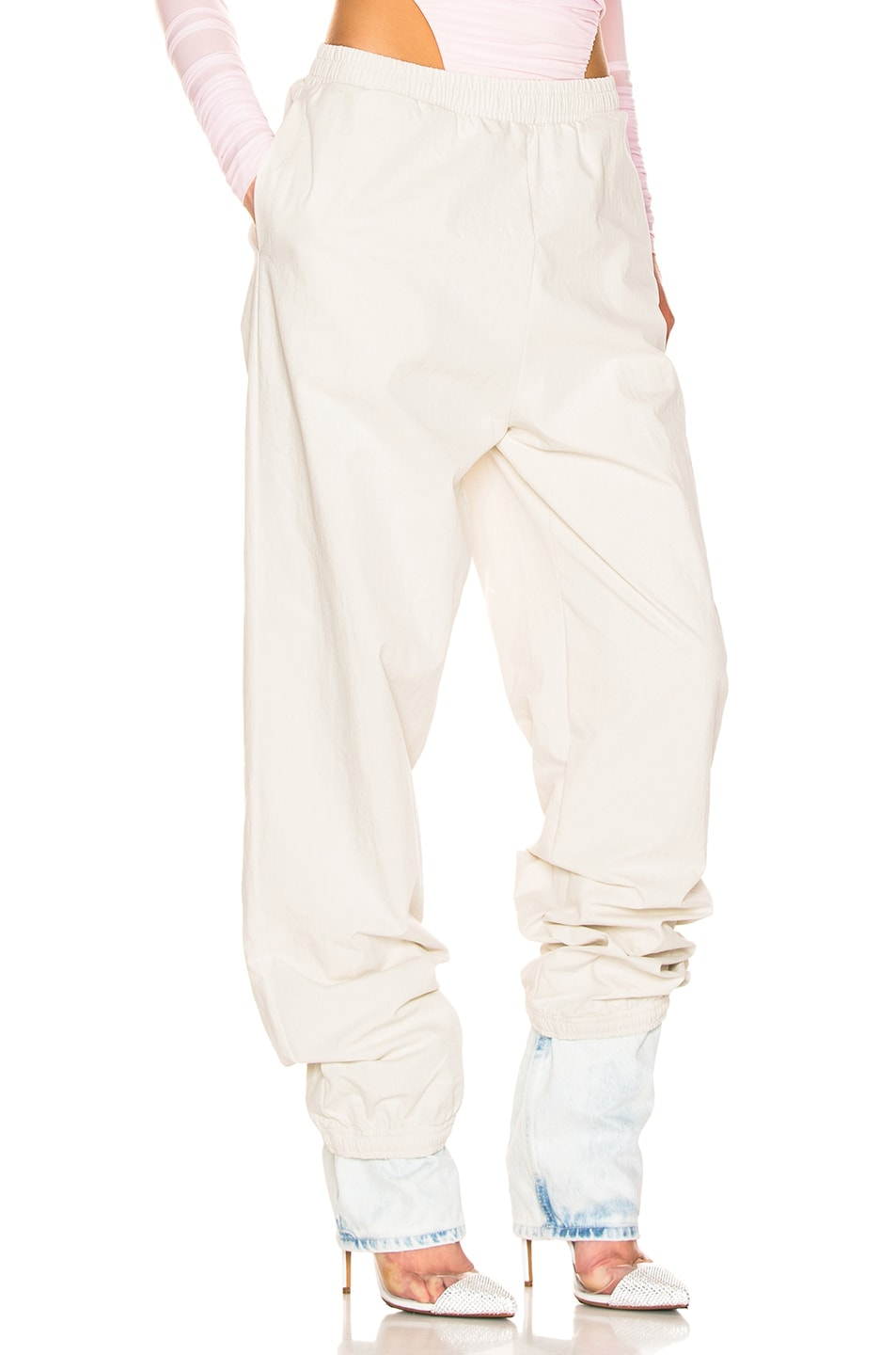 Image 2 of Y/Project Denim Cuff Track Pants in Ivory