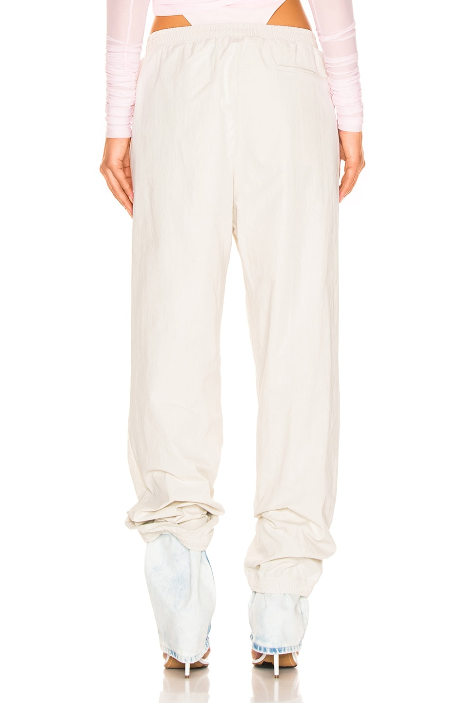 Image 3 of Y/Project Denim Cuff Track Pants in Ivory