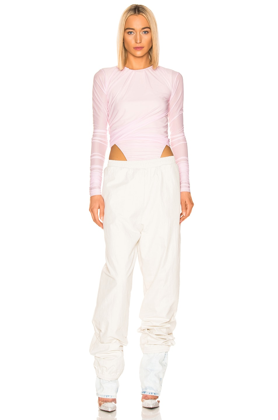 Image 4 of Y/Project Denim Cuff Track Pants in Ivory