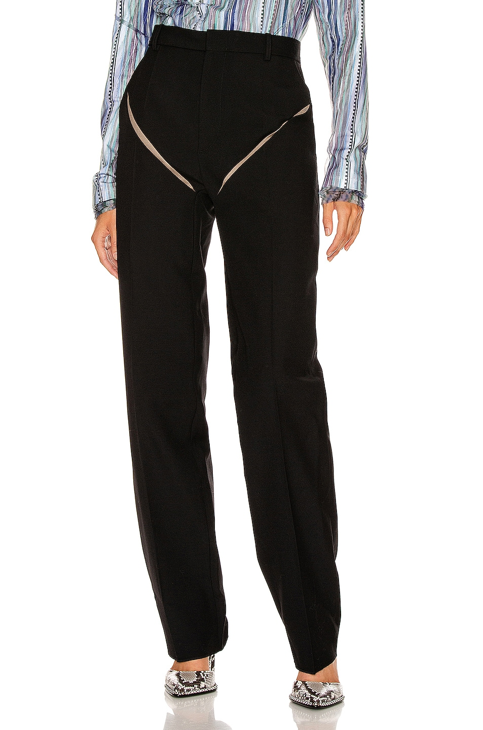 Image 1 of Y/Project Cut Out Trousers in Black