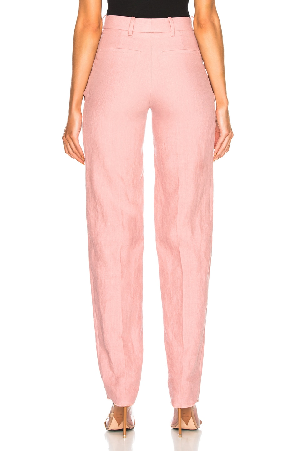 Image 4 of Y/Project Front Cut Tailored Pant in Pink