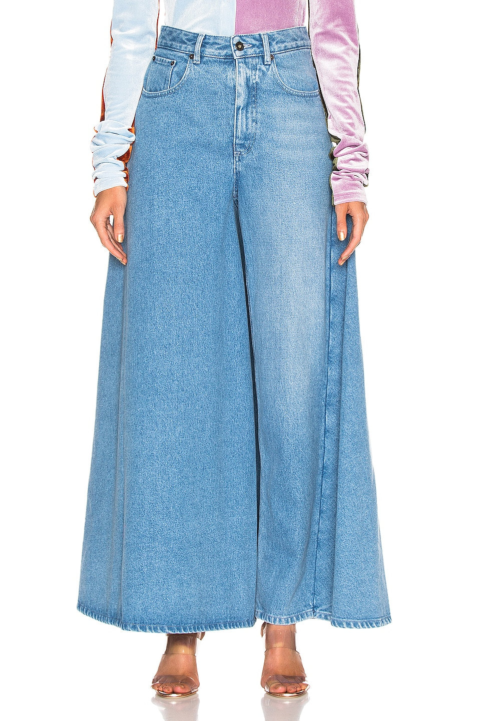 Image 1 of Y/Project Pant Skirt in Ice Blue