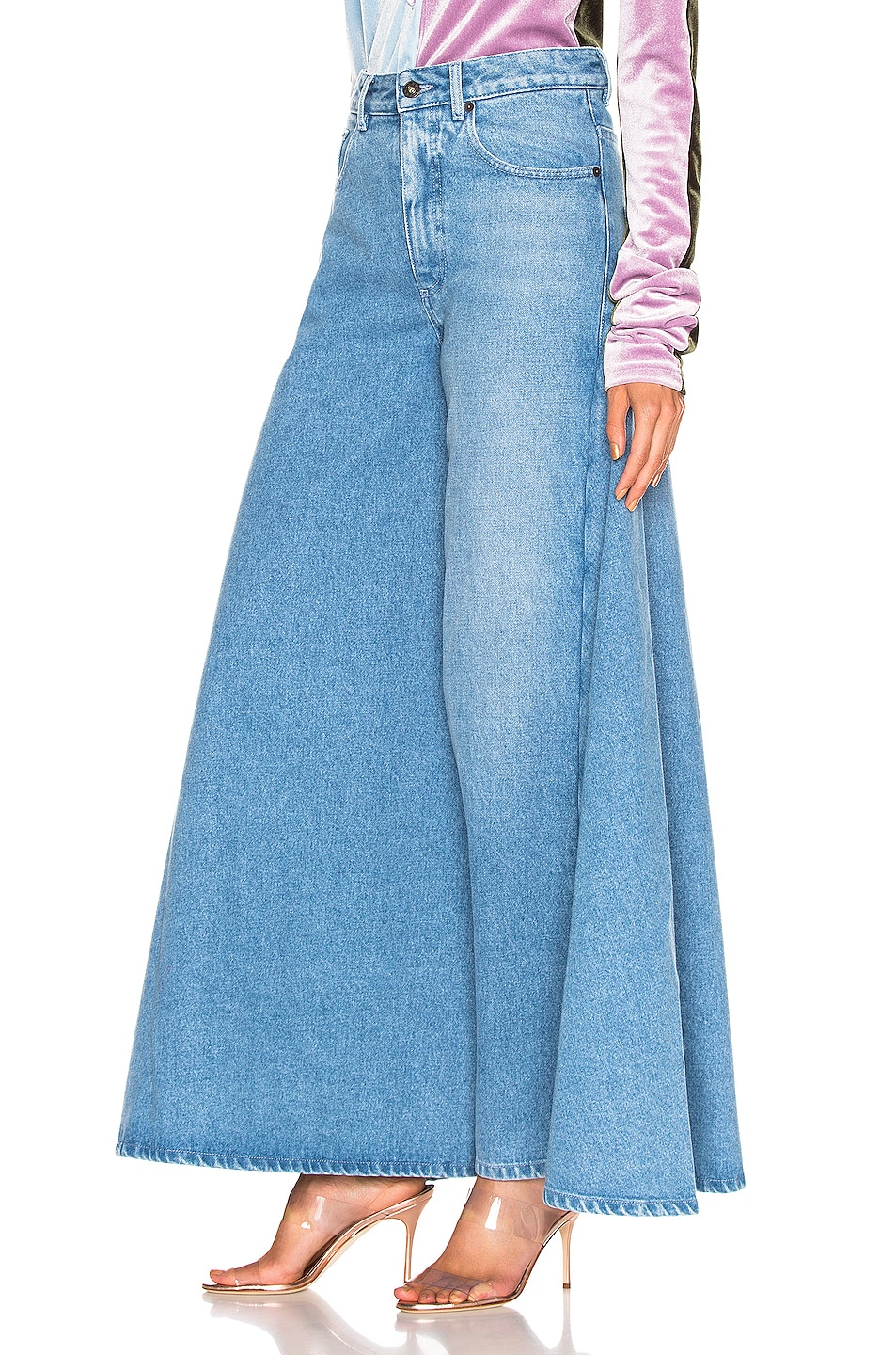 Image 3 of Y/Project Pant Skirt in Ice Blue