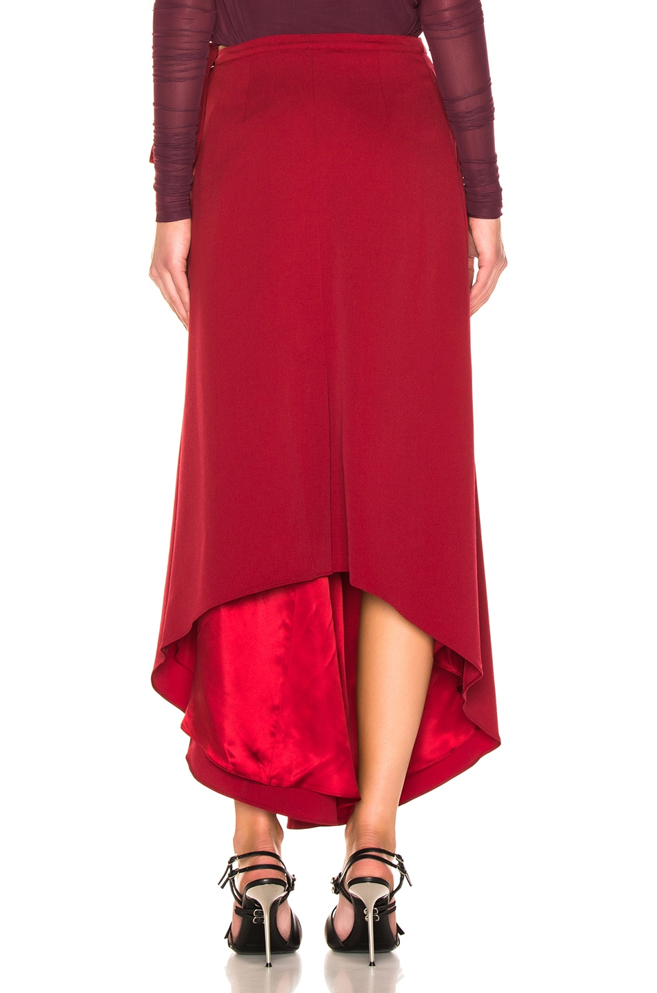 Image 4 of Y/Project Side Slit Skirt in Red