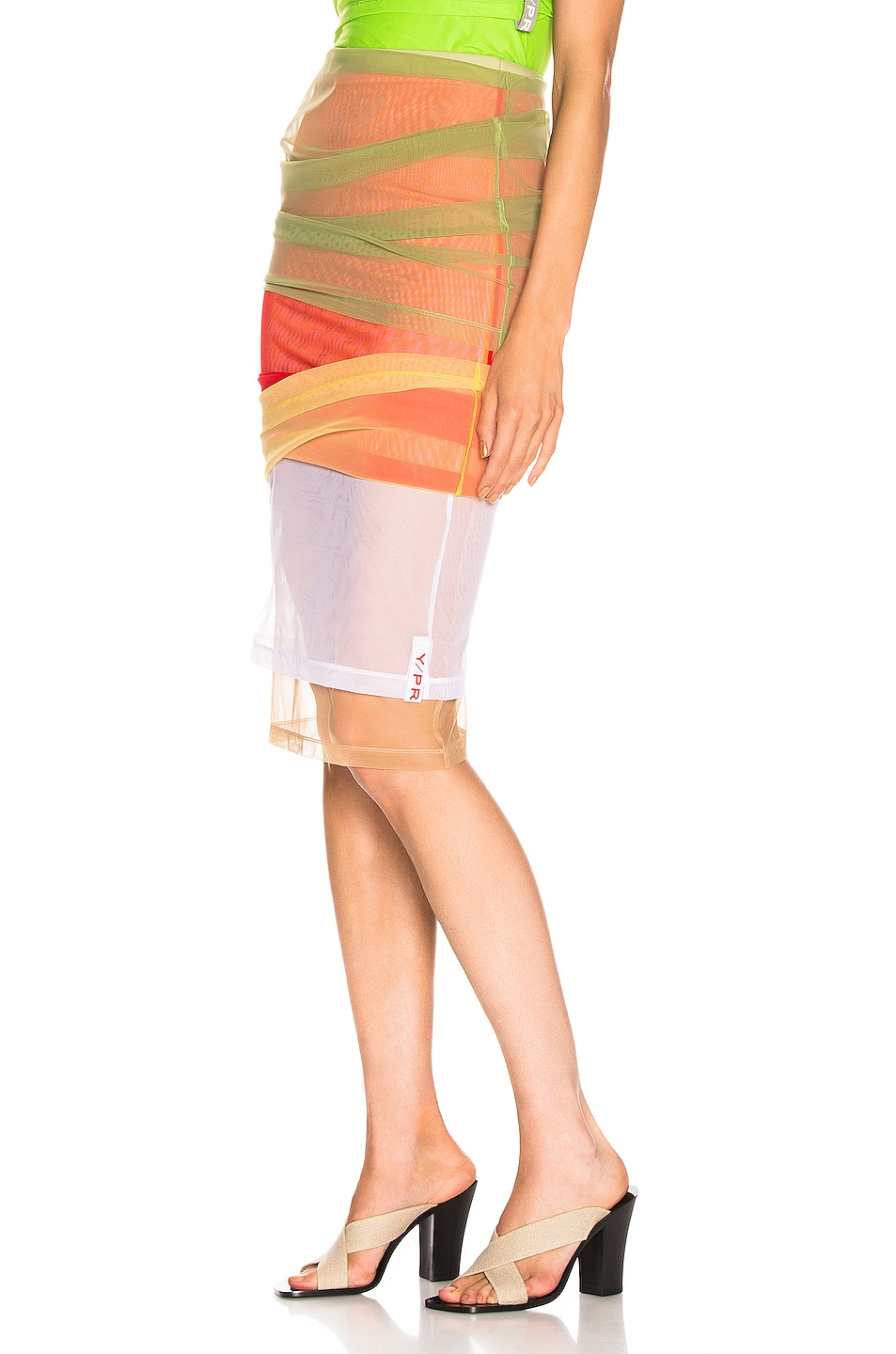 Image 4 of Y/Project Rainbow Skirt in Green