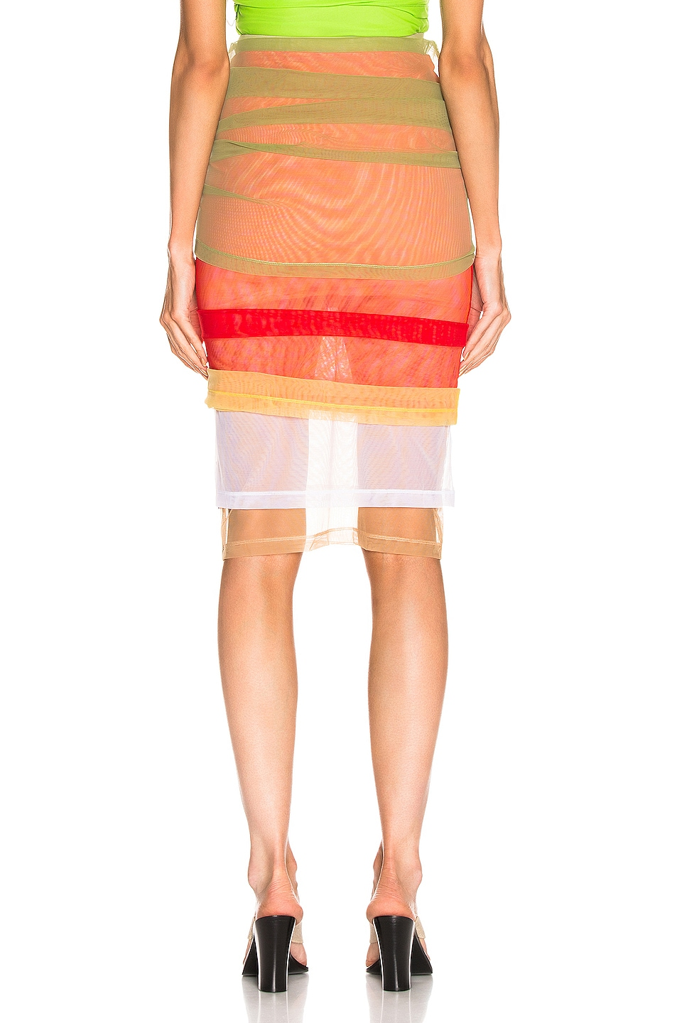 Image 5 of Y/Project Rainbow Skirt in Green
