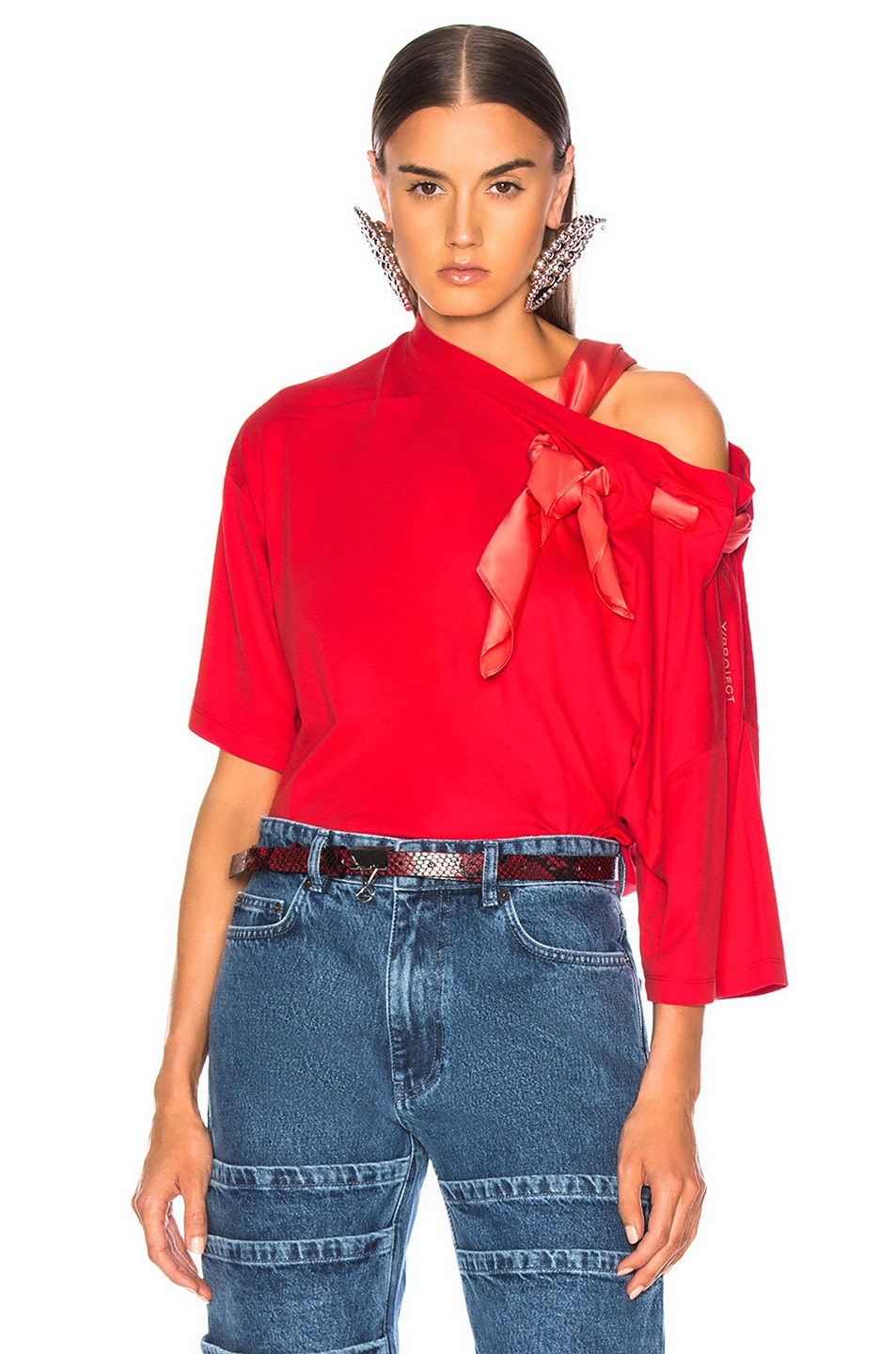 Image 1 of Y/Project Scarf Shirt in Red