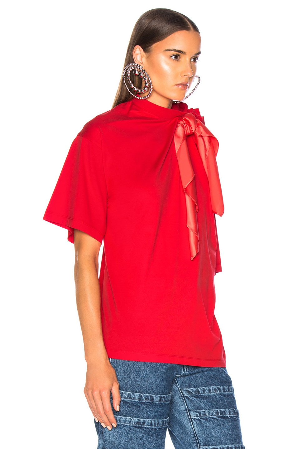 Image 3 of Y/Project Scarf Shirt in Red