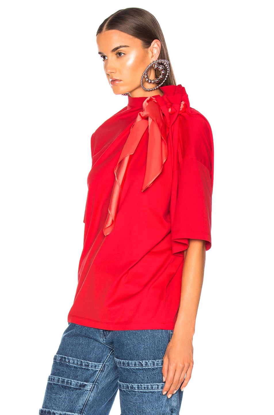 Image 4 of Y/Project Scarf Shirt in Red