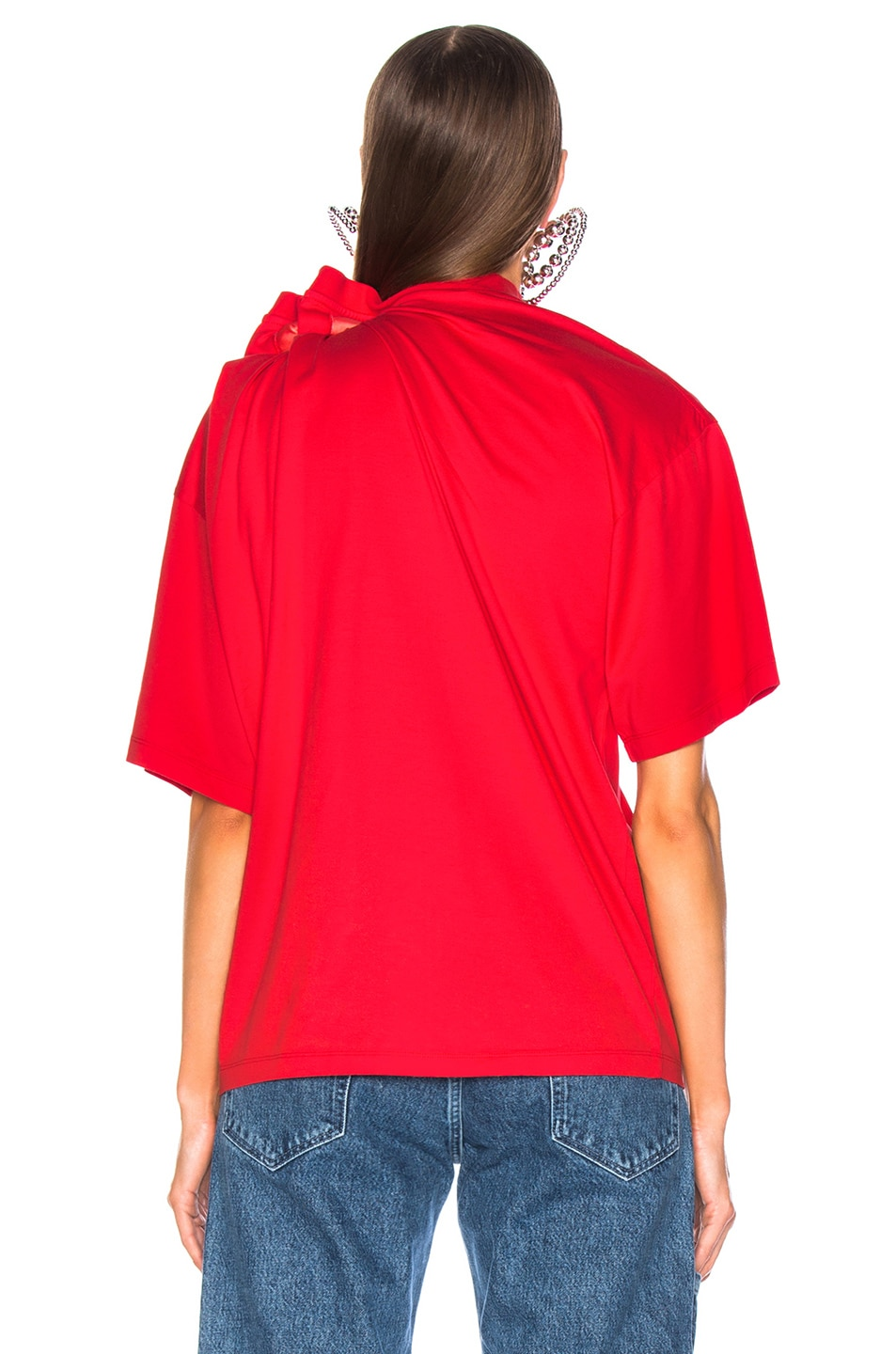 Image 5 of Y/Project Scarf Shirt in Red