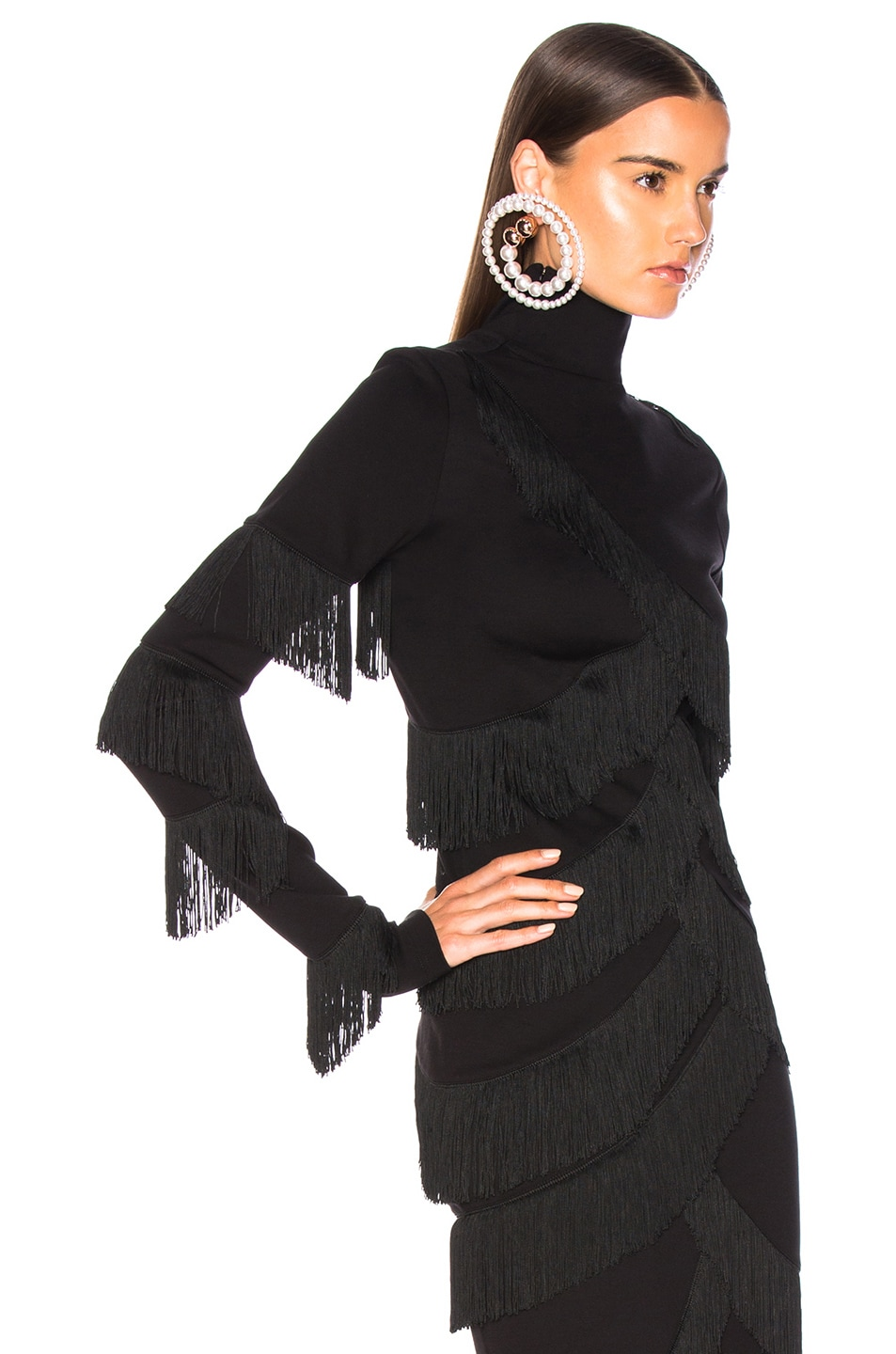Image 2 of Y/Project Fringe Top in Black