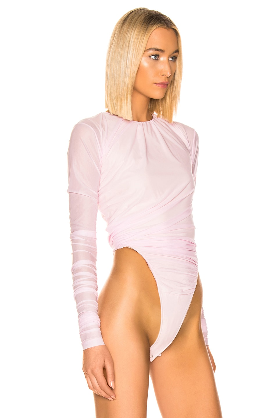 Image 3 of Y/Project Condom Bodysuit in Light Pink