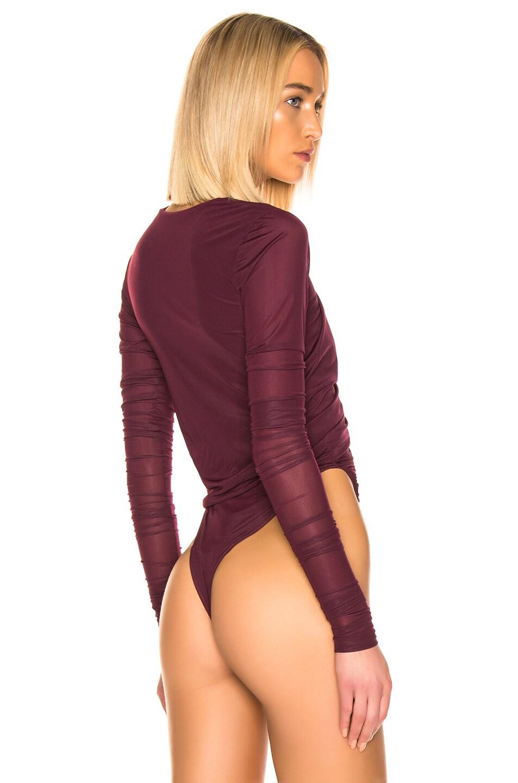 Image 4 of Y/Project Condom Bodysuit in Plum