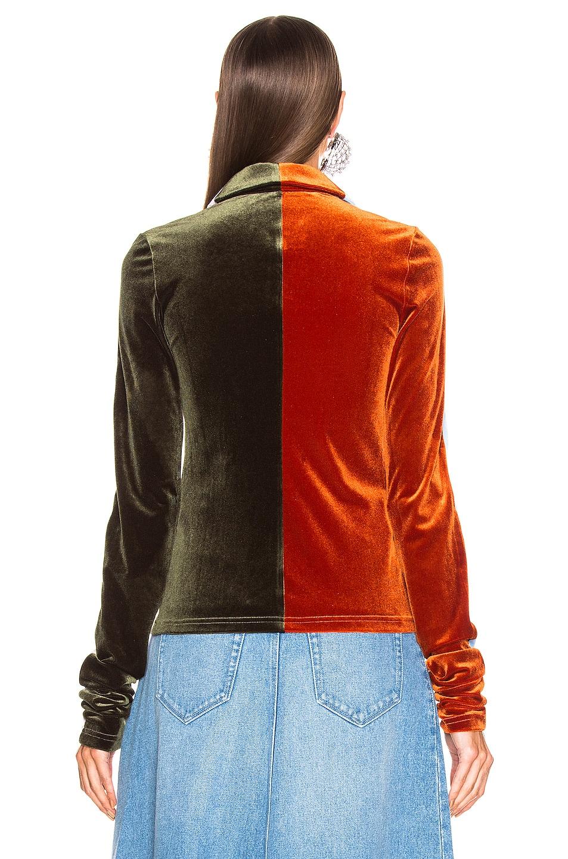 Image 4 of Y/Project Velvet Shirt in Orange