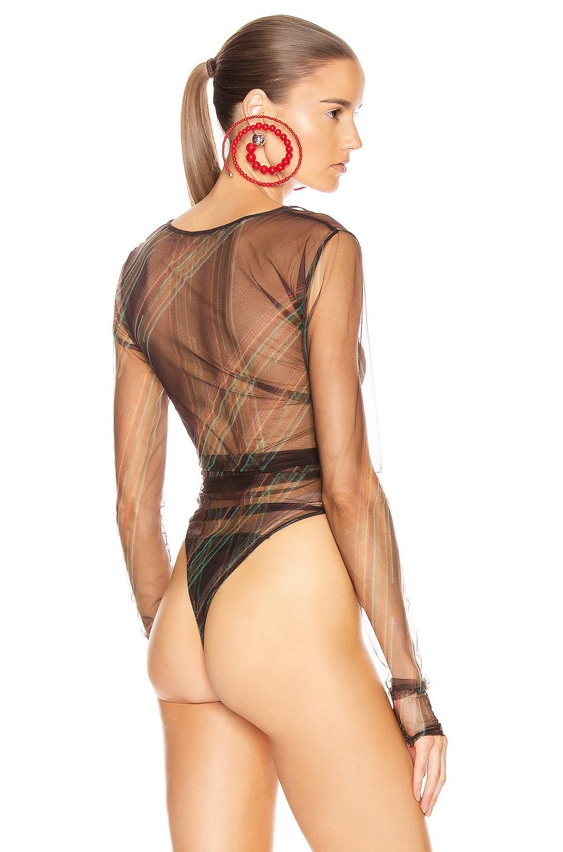 Image 5 of Y/Project Condom Bodysuit in Black Print