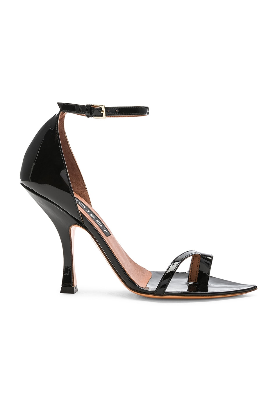 Image 2 of Y/Project High Heel Crystal Sandal in Black