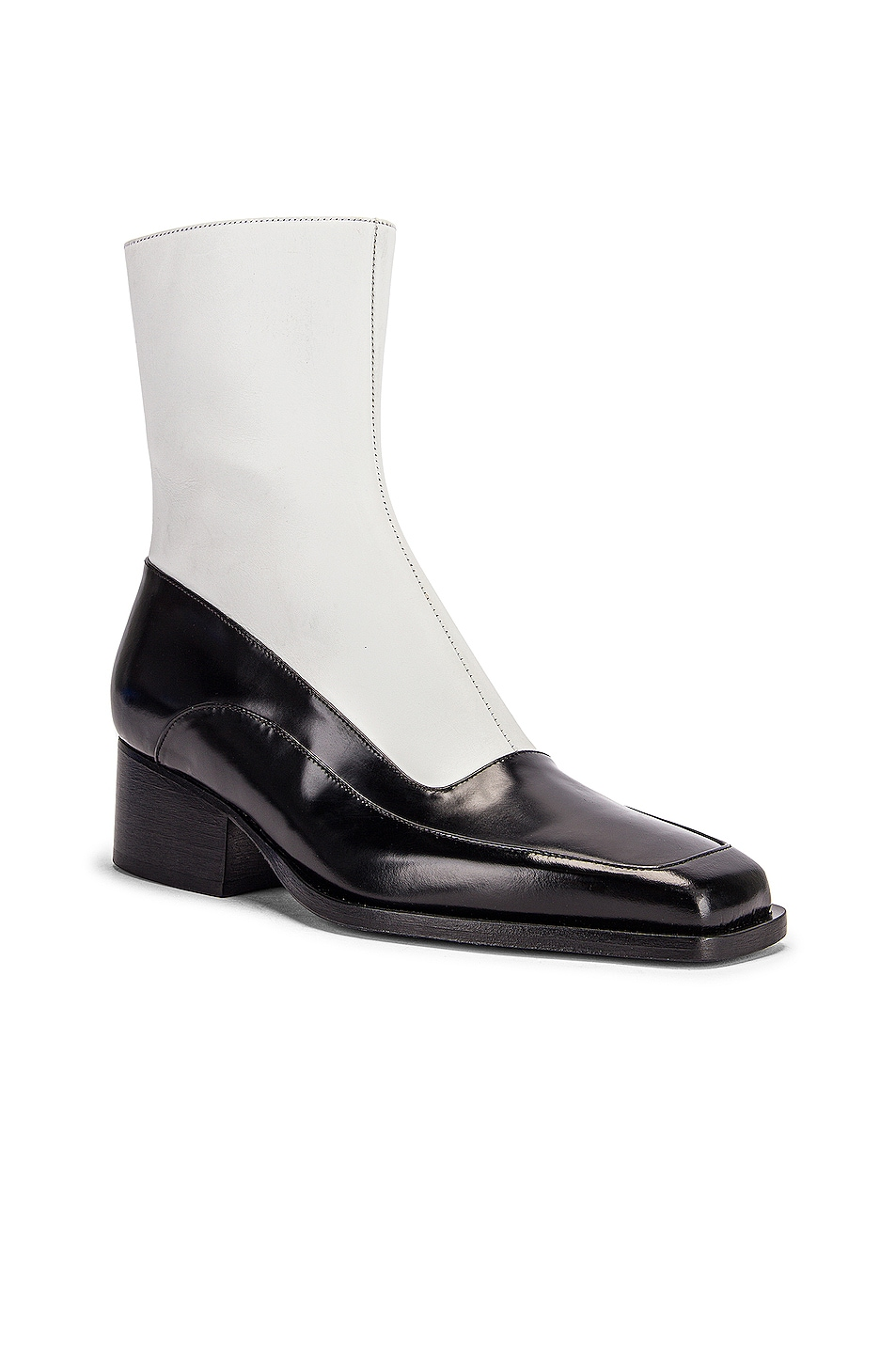 Image 2 of Y/Project 19508 Fitted Ankle Boot in Black & White
