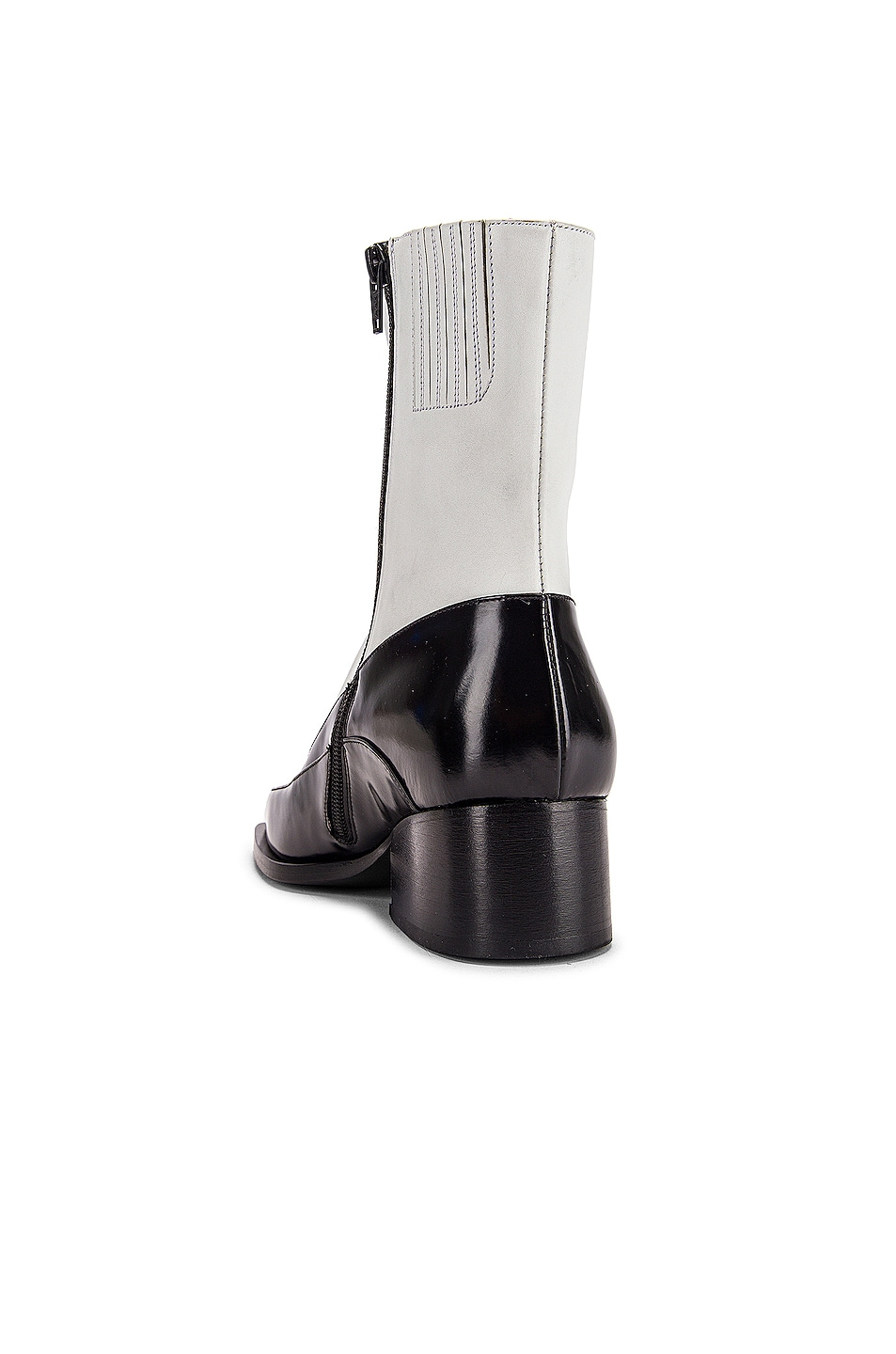 Image 3 of Y/Project 19508 Fitted Ankle Boot in Black & White