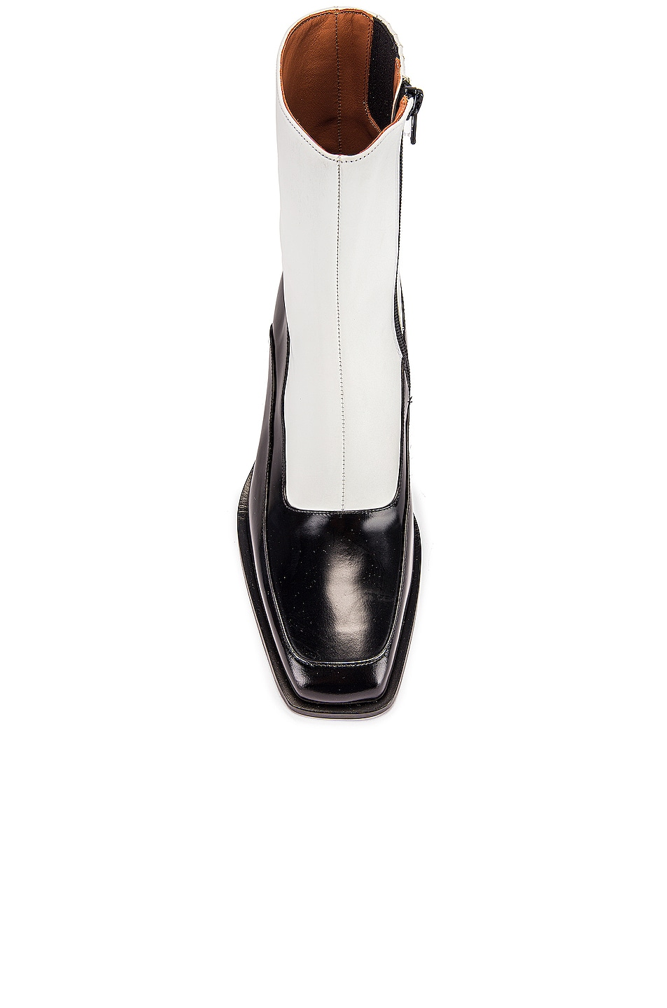 Image 4 of Y/Project 19508 Fitted Ankle Boot in Black & White