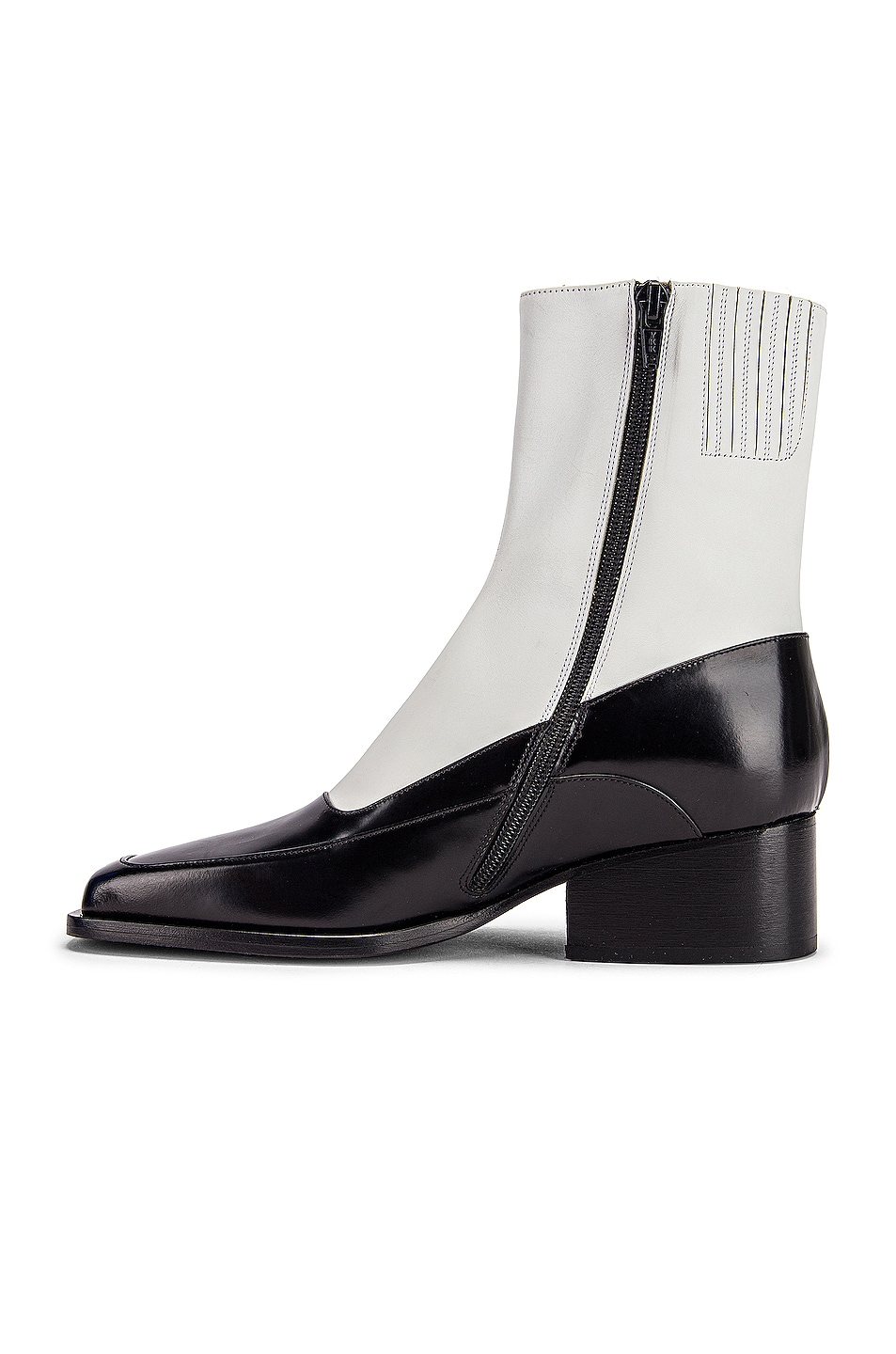 Image 5 of Y/Project 19508 Fitted Ankle Boot in Black & White