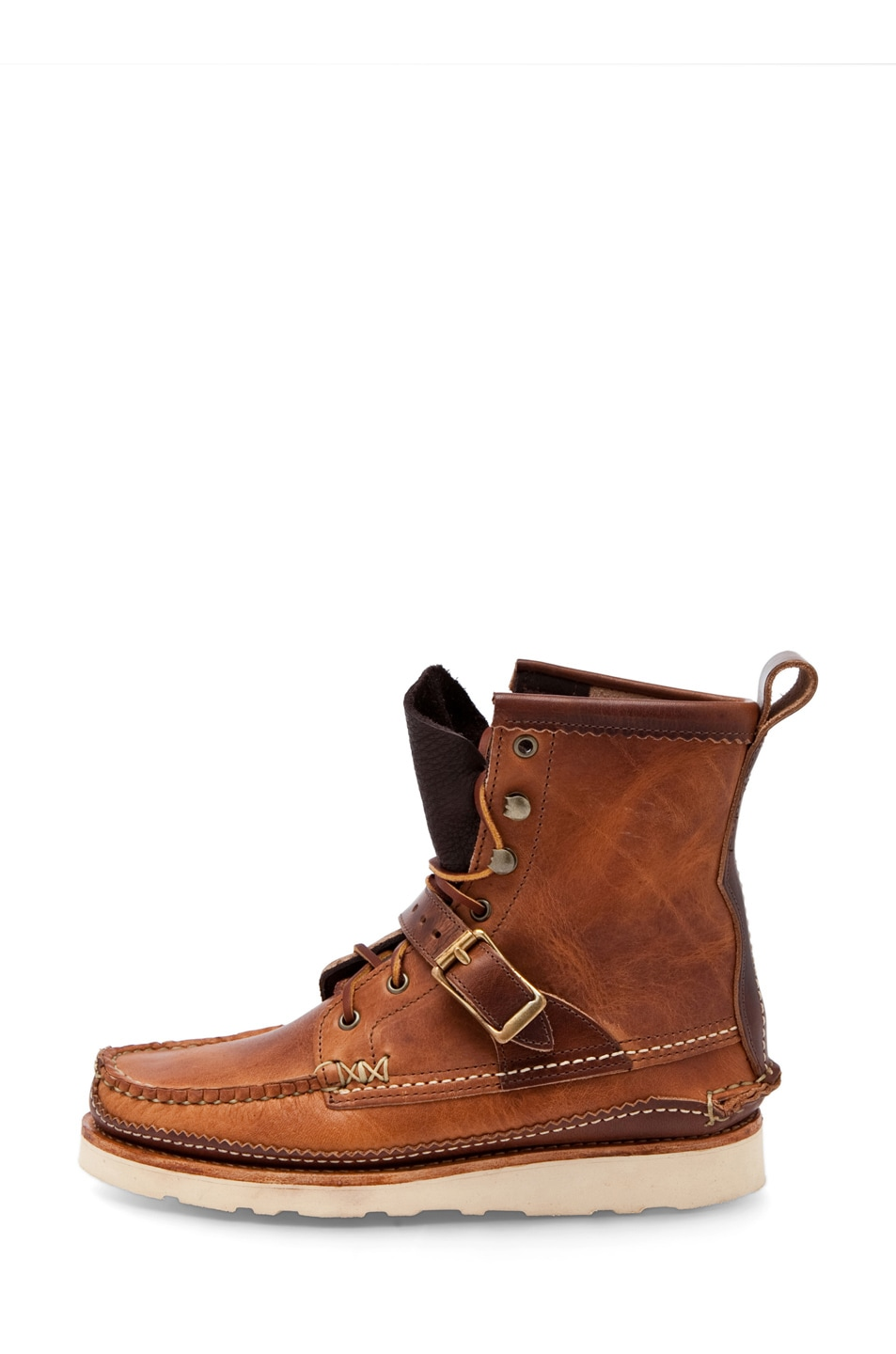 Image 1 of Yuketen D-Width (Normal) Maine Guide DB Strap Boots in D Natural