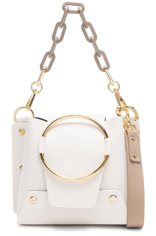 Image 1 of Yuzefi Mini Delila Bag in Bianco & Khaki