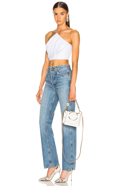 Image 2 of Yuzefi Mini Delila Bag in Bianco & Khaki