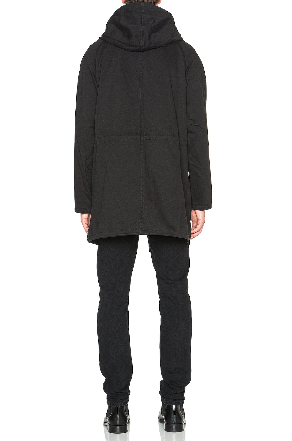 Image 6 of Yves Salomon Parka with Coyote Fur in Black & Oil