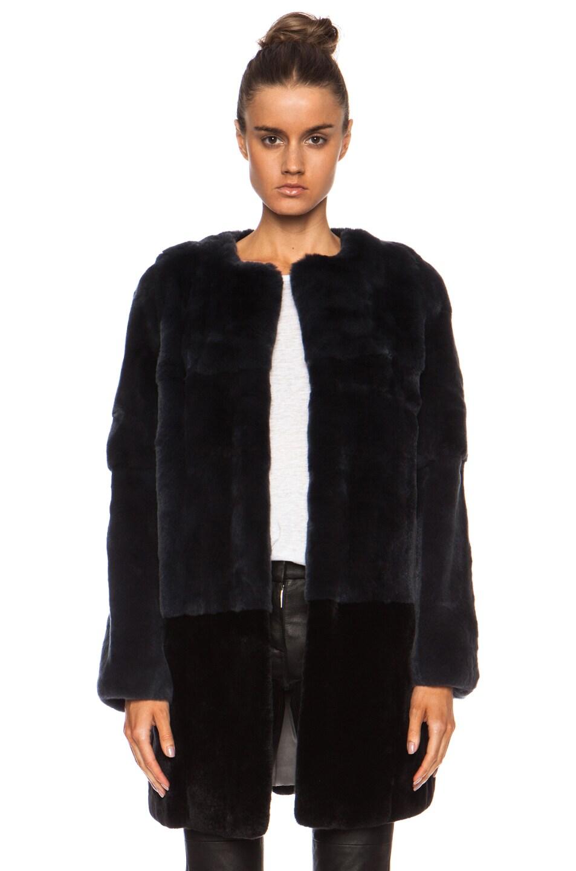 Image 1 of Yves Salomon Rex Fur Coat in Denim