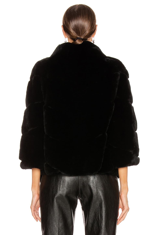 Image 4 of Yves Salomon Real Rex Rabbit Jacket in Noir