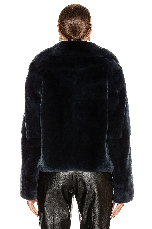 Image 4 of Yves Salomon Rex Rabbit Jacket in Minuit