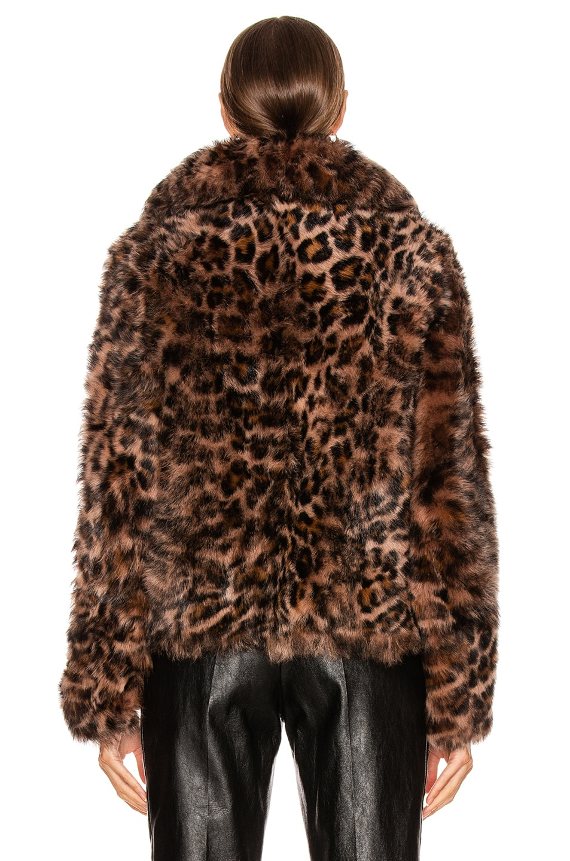 Image 4 of Yves Salomon Toscana Shearling Jacket in Leopard Print Boudoir