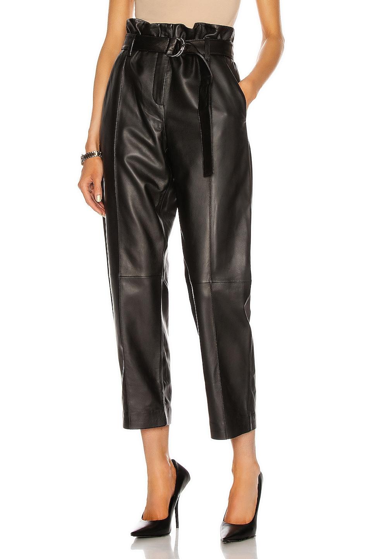 Image 1 of Yves Salomon Lamb Leather Pant in Noir