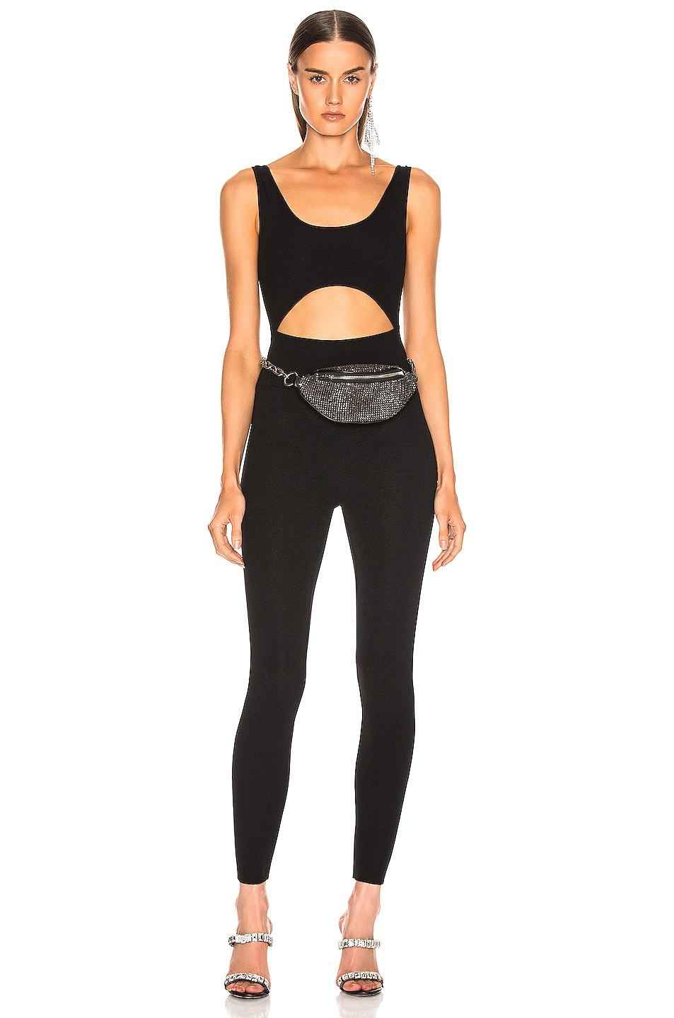 Image 1 of Zeynep Arcay Knit Full Jumpsuit in Black