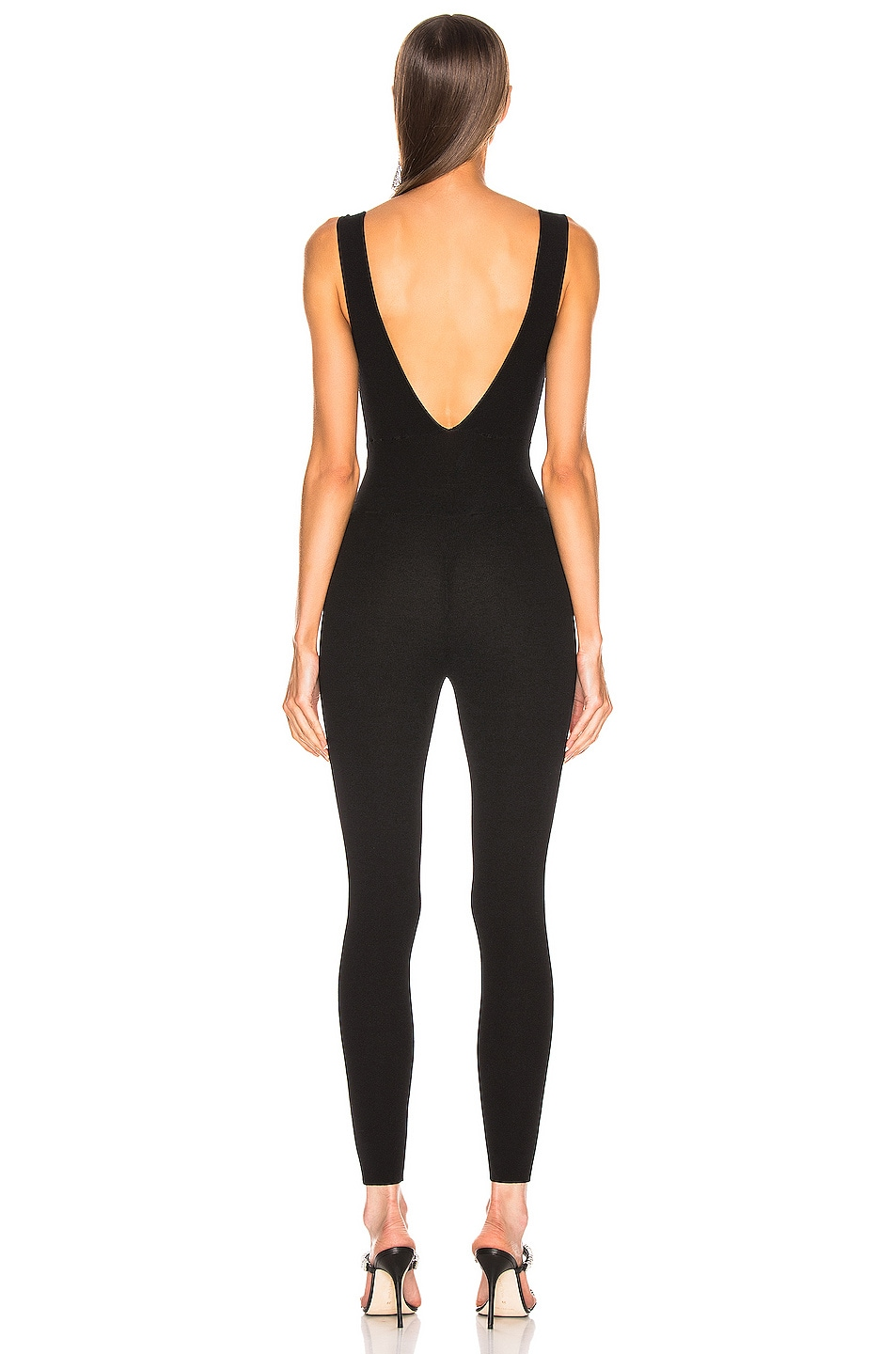 Image 3 of Zeynep Arcay Knit Full Jumpsuit in Black