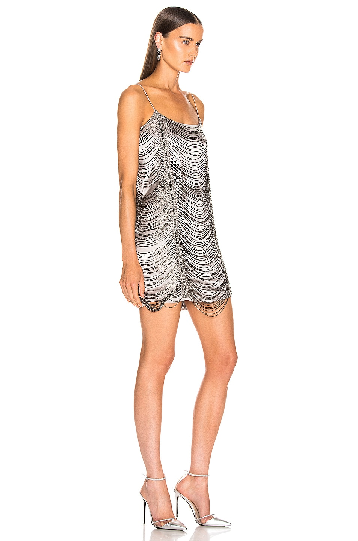 Image 2 of Zeynep Arcay Mini Bead Dress in Light Grey