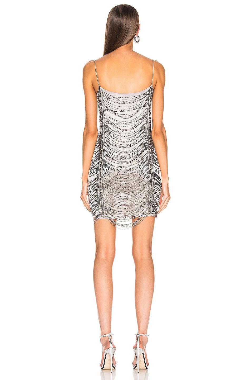 Image 3 of Zeynep Arcay Mini Bead Dress in Light Grey