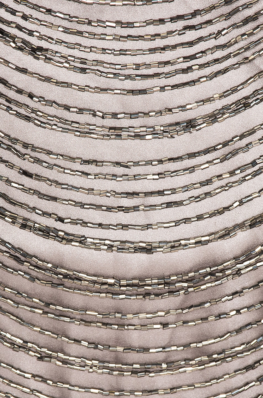Image 4 of Zeynep Arcay Mini Bead Dress in Light Grey