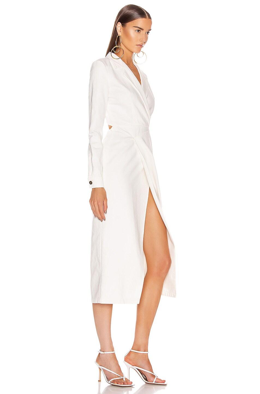 Image 2 of Zeynep Arcay Midi Denim Dress in White