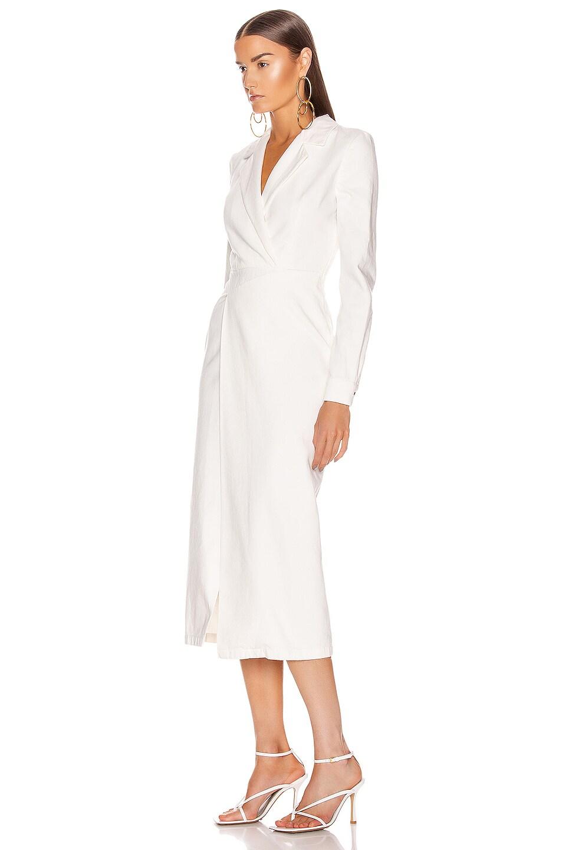 Image 3 of Zeynep Arcay Midi Denim Dress in White