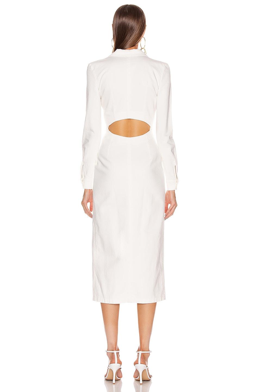 Image 4 of Zeynep Arcay Midi Denim Dress in White