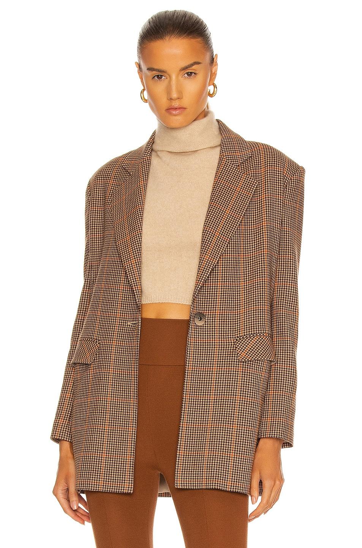 Image 1 of Zeynep Arcay Boyfriend Wool Jacket in Light Brown
